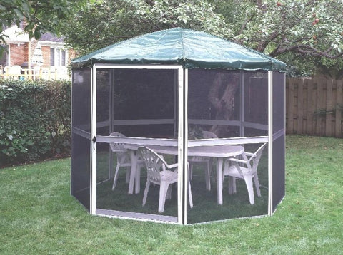 Gazebo Penguin 13' Diameter Round Sunroom with Vinyl Roof Solarium Gazebo Penguin