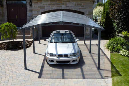 Gazebo Penguin Carport Shelter with Gutter - The Better Backyard