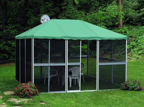 Gazebo Penguin Square Room 11′4″ x 11′4″ with Vinyl Roof Solarium Gazebo Penguin