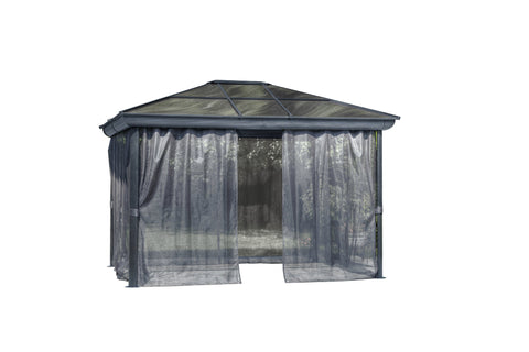 Image of Gazebo Penguin Venice Gazebo with Nettings and Privacy Curtains - The Better Backyard