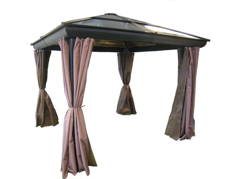 Image of Gazebo Penguin Venice Gazebo with Nettings and Privacy Curtains Gazebo Gazebo Penguin