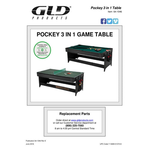 Image of GLD Fat Cat 3 In 1 Original  Game Table - The Better Backyard