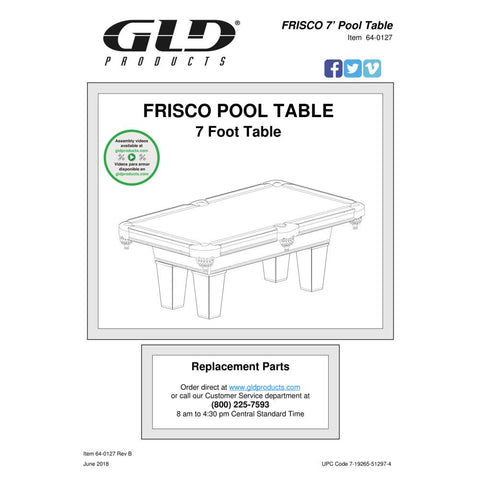 Image of GLD Fat Cat 7' Frisco Billiard Table - The Better Backyard