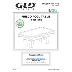 GLD Fat Cat 7' Frisco Billiard Table - The Better Backyard