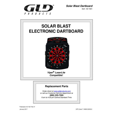 GLD Viper Solar Blast Electronic Dartboard - The Better Backyard