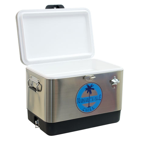 Image of Margaritaville 13 Gallon Stainless Steel Cooler with Bottle Opener Cooler Margaritaville