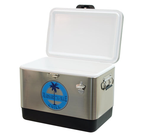 Margaritaville 13 Gallon Stainless Steel Cooler with Bottle Opener Cooler Margaritaville
