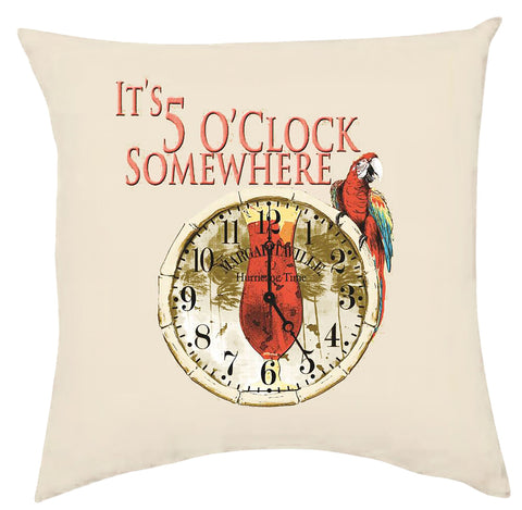 Margaritaville Double Sided Throw Pillows - It's 5 O'Clock Somewhere Accessories Margaritaville