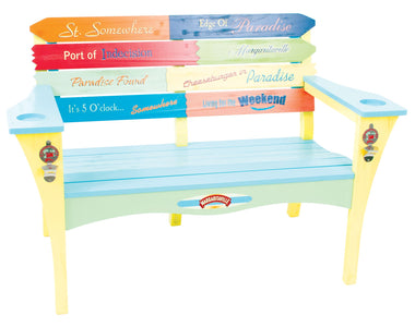 Margaritaville Two Person Garden Bench with Cupholder Bench Margaritaville