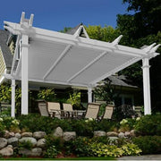 Image of New England 12×12 Camelot Pergola Adjustable Louvers Pergola New England Arbors