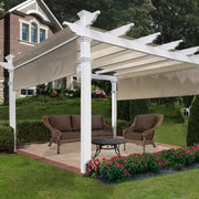 Image of New England 12×12 Monterey Pergola with Shade Cover Pergola New England Arbors