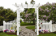 Image of New England Fairfield Arbor Wood-Like Vinyl 5'x2' Arbors New England Arbors