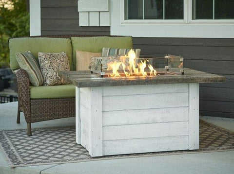 Image of Outdoor Alcott Rectangular Gas Fire Pit Table - The Better Backyard