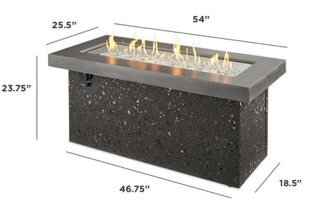 Outdoor Company Key Largo Linear Gas Fire Pit Table - The Better Backyard