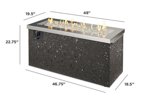 Image of Outdoor Company Key Largo Linear Gas Fire Pit Table - The Better Backyard