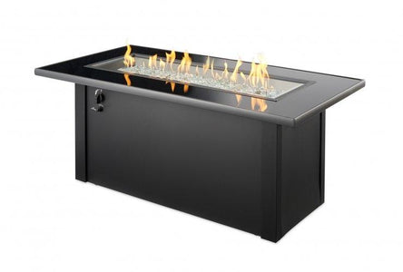 Outdoor Company Monte Carlo Linear Gas Fire Pit Table - The Better Backyard