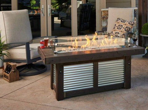 Outdoor Denali Brew Linear Gas Fire Pit Table Fire Pit Outdoor Greatroom Company