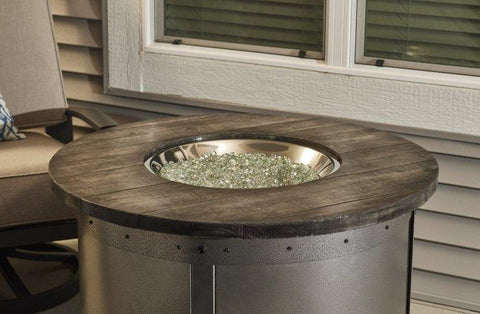 Image of Outdoor  Edison Round Gas Fire Pit Table - The Better Backyard