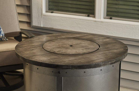 Outdoor  Edison Round Gas Fire Pit Table - The Better Backyard