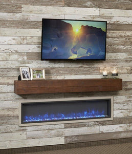 Outdoor Linear Built In Electric Fireplace - The Better Backyard