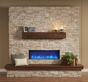 Image of Outdoor Linear Built In Electric Fireplace - The Better Backyard