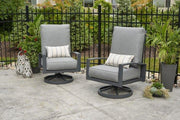 Image of Outdoor Lyndale Highback Swivel Rocker Cast Sunbrella Cushions - The Better Backyard