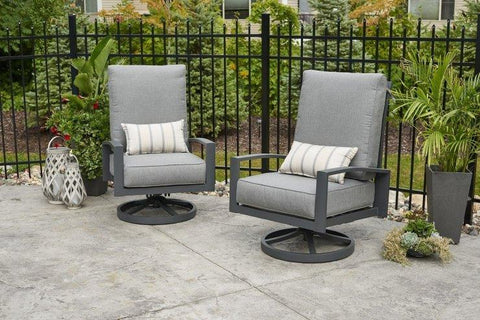 Outdoor Lyndale Highback Swivel Rocker Cast Sunbrella Cushions - The Better Backyard