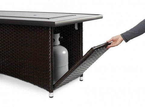 Image of Outdoor Montego Linear Gas Fire Pit Table - The Better Backyard