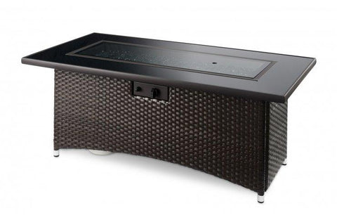 Outdoor Montego Linear Gas Fire Pit Table - The Better Backyard