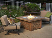 Image of Outdoor  Sierra Square Gas Fire Pit Table - The Better Backyard