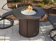 Image of Outdoor Stonefire Gas Fire Pit Table - The Better Backyard