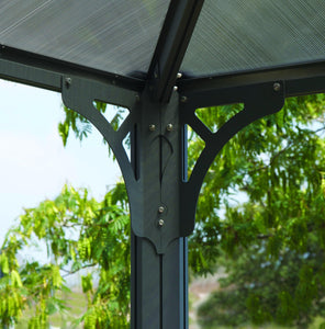 Palermo 3600 Gazebo 12' x 12' Gray/Bronze - The Better Backyard