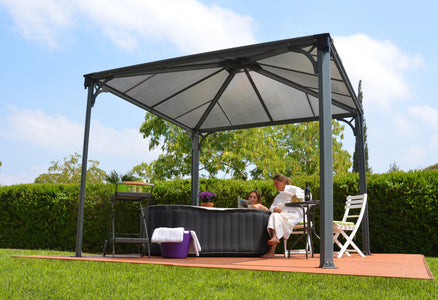 Palram 10x10 ft. Grey Patio Garden Gazebo - The Better Backyard