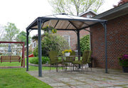 Image of Palram 10x10 ft. Grey Patio Garden Gazebo - The Better Backyard