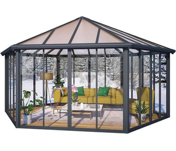 Palram Garda 10.5 x 17 Garda DIY Kit Closed Gazebo - The Better Backyard