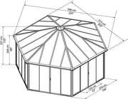 Image of Palram Garda 10.5 x 17 Garda DIY Kit Closed Gazebo - The Better Backyard