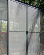 Image of Palram Ledro Gazebo 10 x 10 Gazebo Enclosure Gazebo Palram With Screen Doors