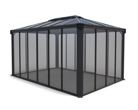 Palram Ledro Gazebo 10 x 14 Grey and Bronze Gazebo Palram