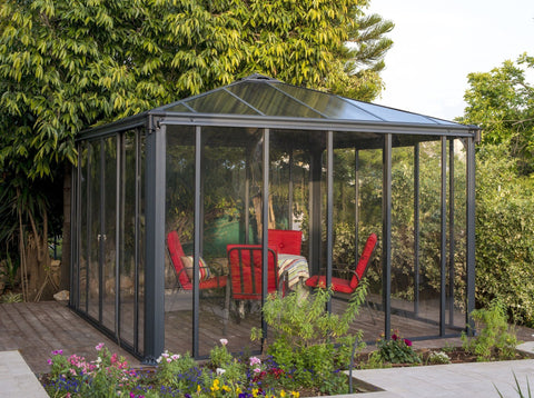 Image of Palram Ledro Gazebo 12x12 Gazebo Enclosure Solarium Palram Without Screen Doors