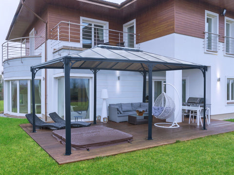Palram Martinique 5000 Garden 12x16 Gazebo with Polycarbonate Roof Gazebo Palram