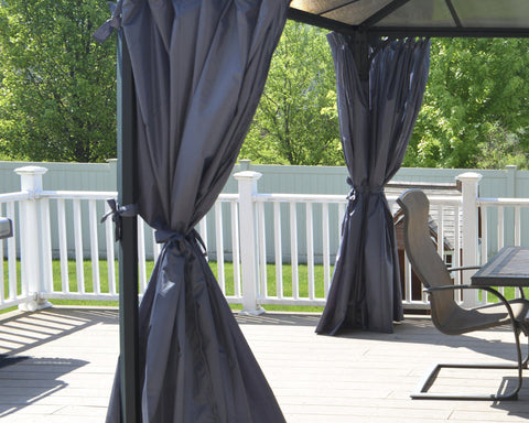 Palram Palermo/Milano/Martinique Gazebo Curtain Set Accessories Palram