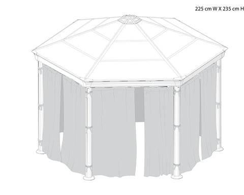 Palram Roma Gazebo Curtain set Accessories Palram