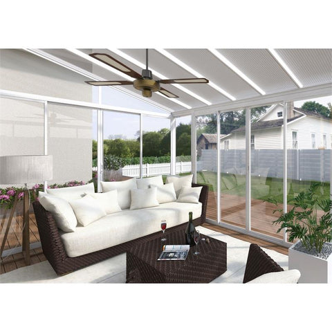 Palram SanRemo 10x18 Patio Enclosure Kit White with PC Roof - The Better Backyard