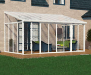 Image of Palram SanRemo 10x18 Patio Enclosure Kit White with PC Roof - The Better Backyard