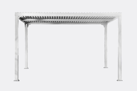 Paragon 10x12 Novara with Louvered Canopy Pergola - The Better Backyard