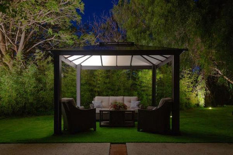 Paragon 11x13 Santa Monica Hard Top with Netting Gazebo - The Better Backyard
