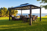 Image of Paragon 11x13 Santa Monica Hard Top with Netting Gazebo - The Better Backyard