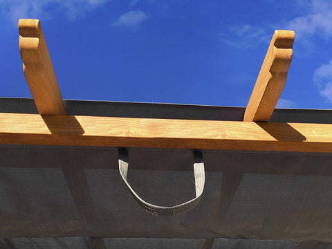 Image of Paragon 11x16 Pergola Canadian Cedar Frame and Silver Canopy Pergola Paragon-Outdoor