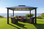 Image of Paragon 11x16 Santa Monica Hard Top with Netting Gazebo - The Better Backyard