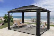 Image of Paragon 11x16 Siena Hard Top with Sliding Screen Gazebo - The Better Backyard